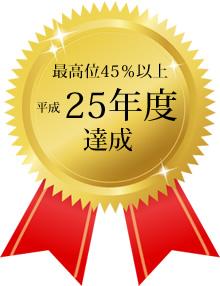 就労定着率の実績(平成25年度)最高位を達成